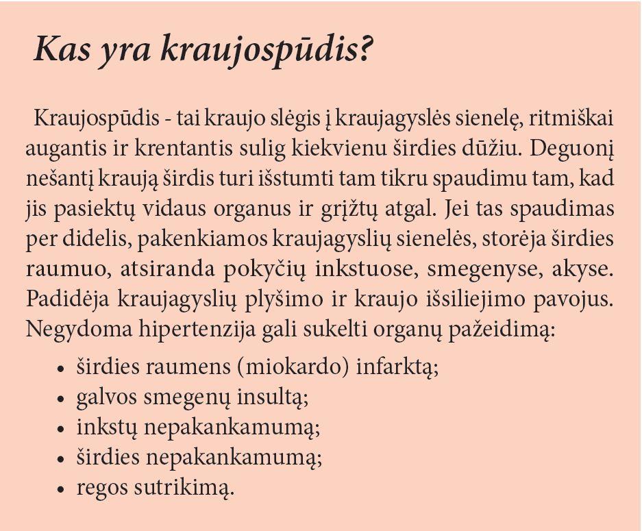 kraujagyslių hipertenzija smegenyse yra)